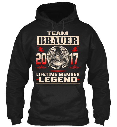 Team Brauer 2017 Black T-Shirt Front