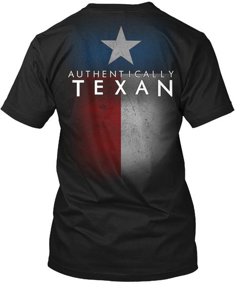 Authentically Texan Black T-Shirt Back