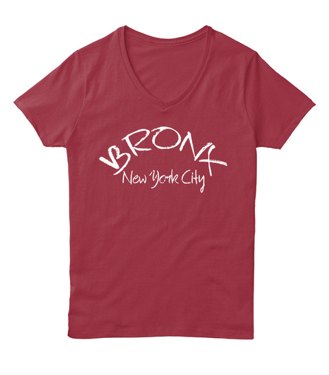Bronx New York City Deep Red  T-Shirt Front