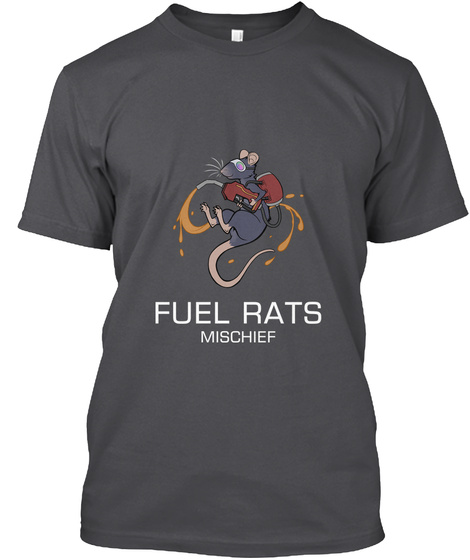 Fuel Rats Mischief Charcoal T-Shirt Front