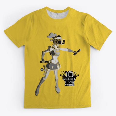 Radio Sega   10 Years Li Ve (Yellow) Yellow T-Shirt Front