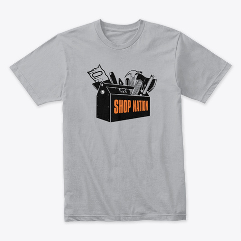Shop Nation Toolbox Tee Heather Grey T-Shirt Front