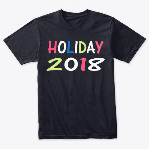 Holiday Funny Thsirt Vintage Navy T-Shirt Front