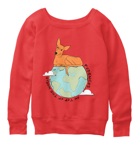 Podencos On Top Of The World Red T-Shirt Front