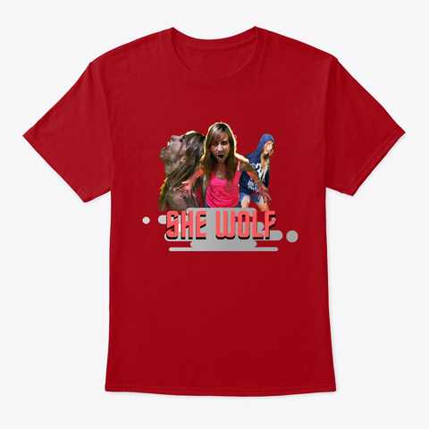 She Wolf Collection Deep Red T-Shirt Front