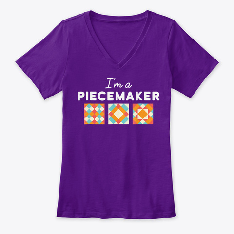 Quilting Quilter Gift Apparel Clothing Team Purple  T-Shirt Front