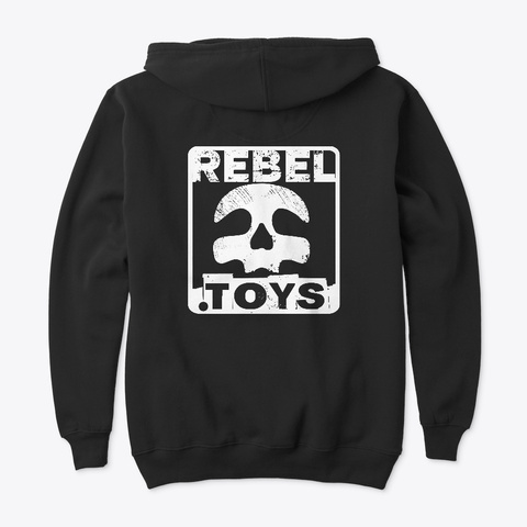 Rebel.Toys Hoodie Black T-Shirt Back