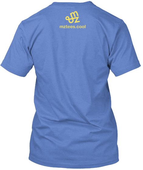 Typed Smiley Heathered Royal  T-Shirt Back