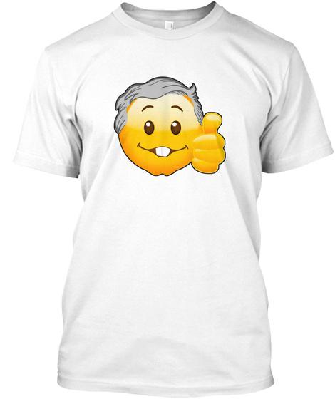 Playera Peje Emoji White Camiseta Front