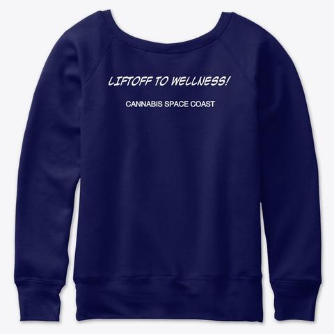 Cannabis Space Coast Navy  T-Shirt Back