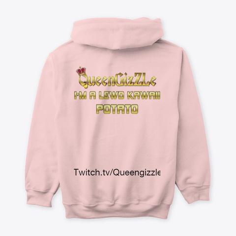 Queen Giz Z Le Lewd Collection Light Pink T-Shirt Back