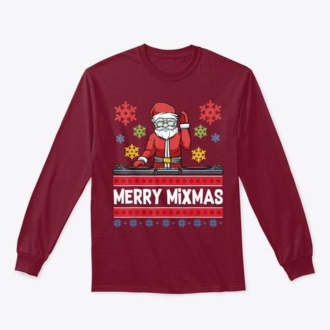 Merry Mixmas Santa Funny Christmas Music Cardinal Red T-Shirt Front