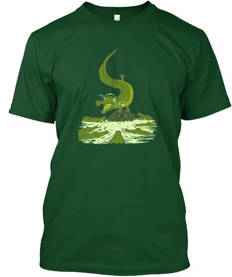 Breakdance Crocodile Deep Forest T-Shirt Front