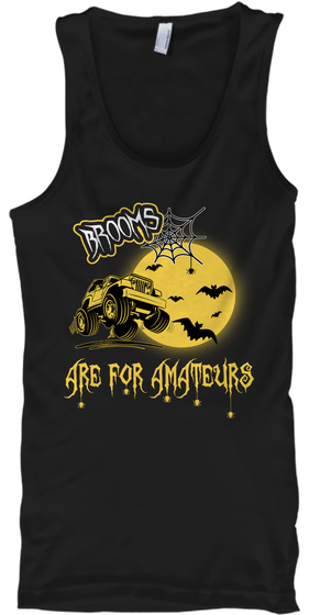 Brooms Are For Amateurs Black T-Shirt Front