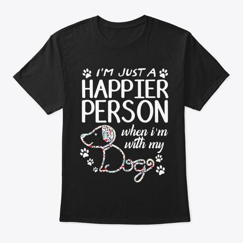 Dogs Ju Black T-Shirt Front