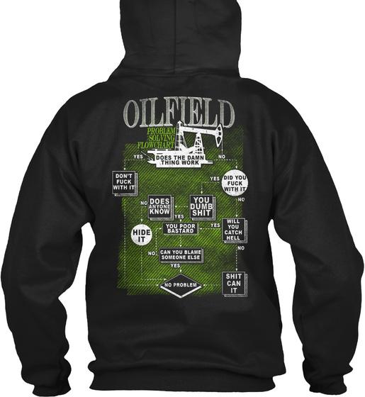 Oilfield Problem Solving Flowchart Dies The Damn Thing Work Sweatshirt Back