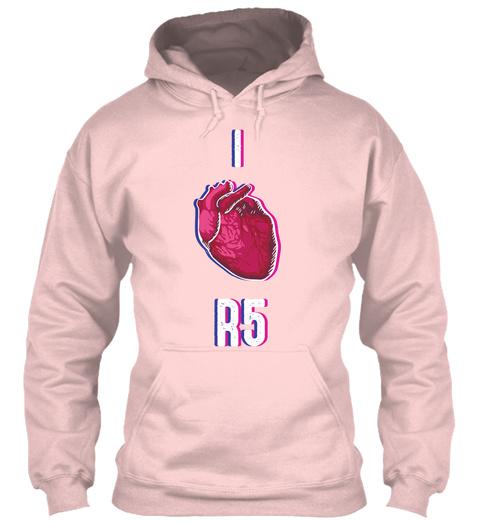 I Heart R5 Light Pink Sweatshirt Front