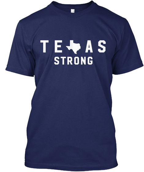 Texas Strong Navy T-Shirt Front