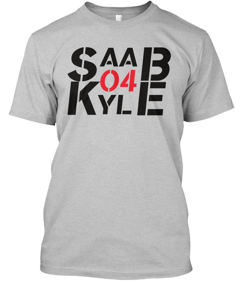 Saab 04 Kyle Light Heather Grey  T-Shirt Front