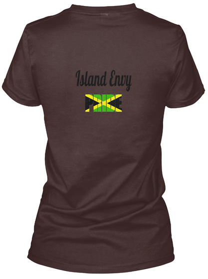 Island Envy Dark Chocolate  Women's T-Shirt Back