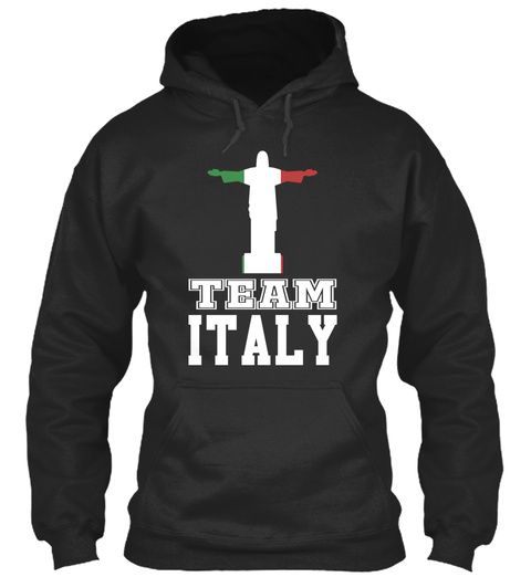 Team Italy Jet Black T-Shirt Front