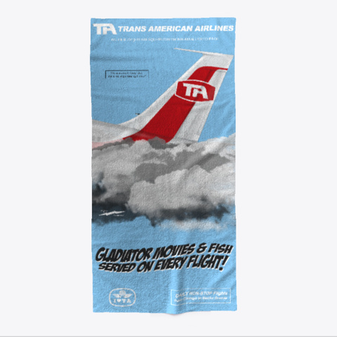 Disaster Flight Beach Towel Light Blue T-Shirt Front
