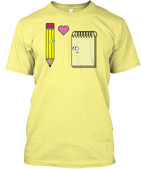 Pencil And Paper Lemon Yellow  T-Shirt Front