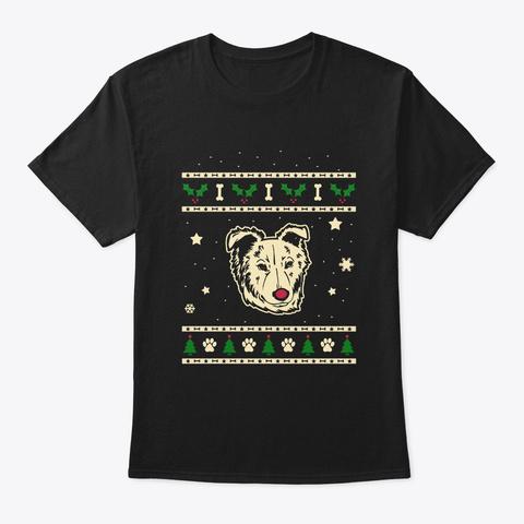 Christmas Basque Shepherd Gift Black T-Shirt Front