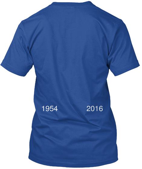 1954 2016 Deep Royal T-Shirt Back