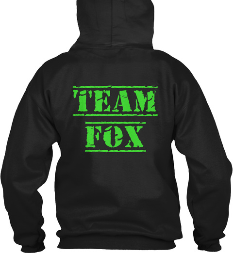 Team Fox Black Sweatshirt Back