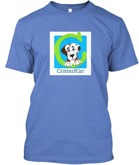 Critter Kin Logo Tee Heathered Royal  T-Shirt Front