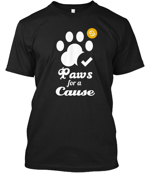 Paws For A Cause Black T-Shirt Front