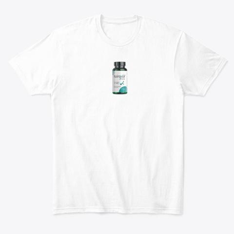 Hairoxol Kapsel   Hairoxol Bewertungen ! White T-Shirt Front