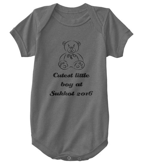 Cutest Little Boy At Sukkot 2016 Charcoal T-Shirt Front