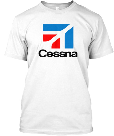 Cessna White T-Shirt Front