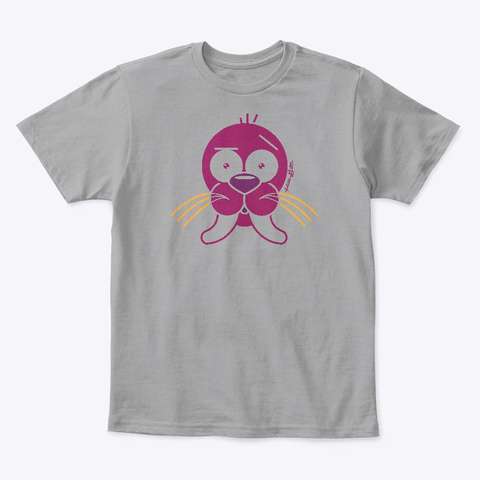 Kg Walrus Light Heather Grey  T-Shirt Front
