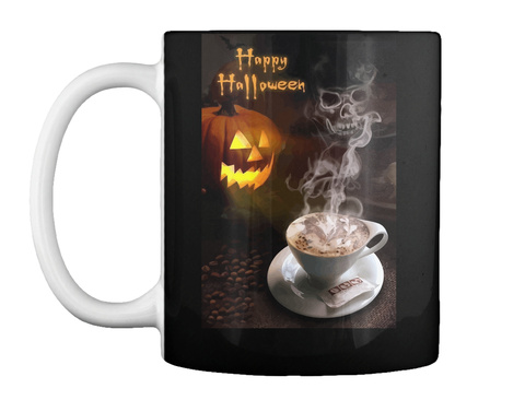 Halloween Mug/T Shirt Ltd Edition Black Mug Front