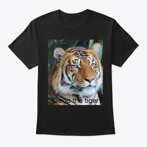 Diego The Tiger T Shirt Black T-Shirt Front