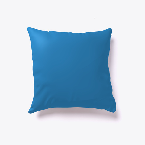 Frosty Christmas Morning   Throw Pillow Denim Blue T-Shirt Back