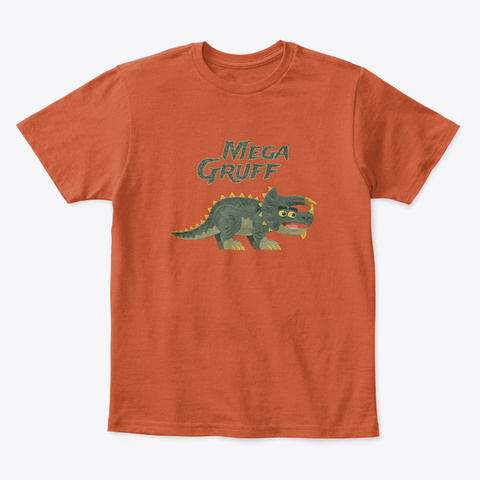 Mega Gruff Deep Orange  T-Shirt Front
