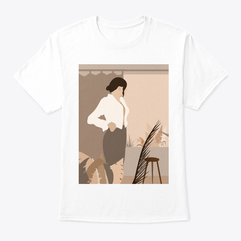 Fashion  Minimal Art,Scandinavianstyle White T-Shirt Front