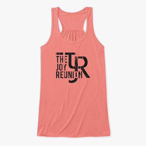 Tjr Women's Flowy Tank Top Coral T-Shirt Front