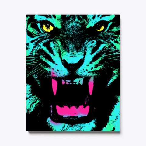 Pop Tiger White T-Shirt Front