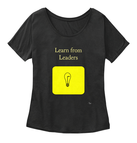 Learn From Leaders Black Women's T-Shirt Front
