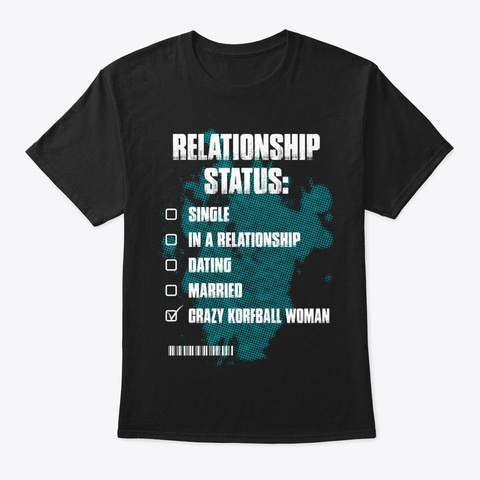Crazy Korfball Woman Shirt Black T-Shirt Front