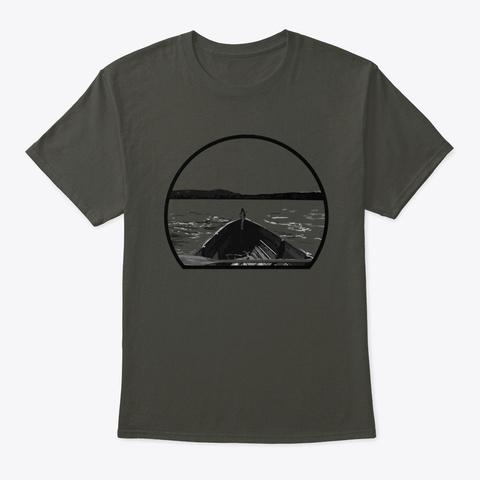 Canoe Design   Hiking, Fishing Kayaking Smoke Gray T-Shirt Front