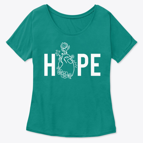 Women's Hope For Chd Tees Kelly  T-Shirt Front
