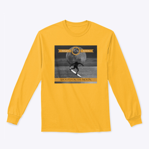 Night Rider Gold Long Sleeve T-Shirt Front