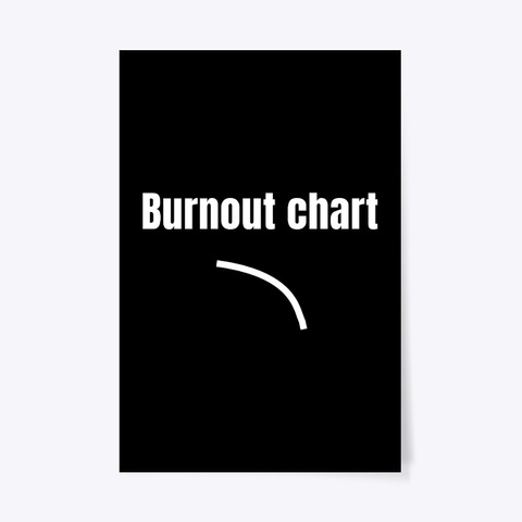 Burnout Chart Black T-Shirt Front