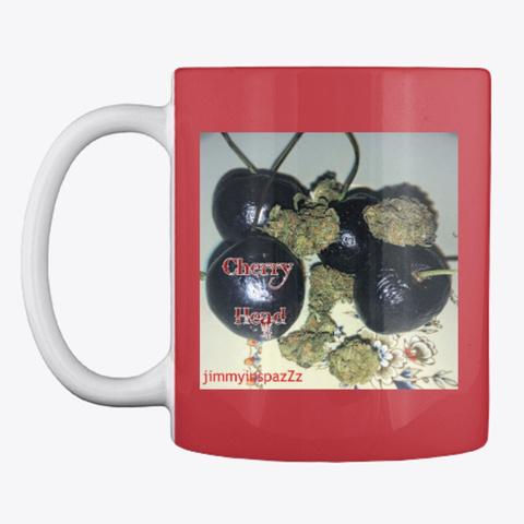 Jimmyinspaz Zz 'cherry Heads' Mug Bright Red Mug Front